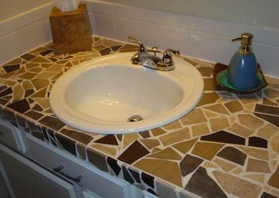 bathroom tile countertop ideas mosaic countertops diy countertops 8 ideas to 16733