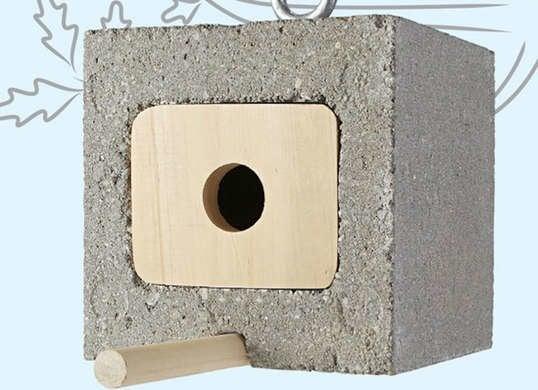 Cinder block birdhouse