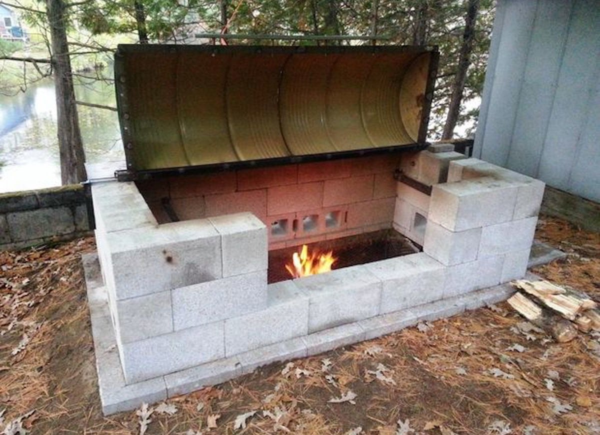 Rotisserie Bbq Pit Cinder Block Furniture 8 Easy Diy Ideas Bob Vila