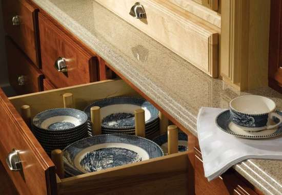 Separate Dishes in Drawer