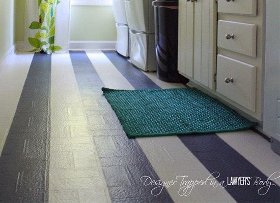 Painting vinyl floors 8 diy ways to improve your for Painted vinyl floor ideas