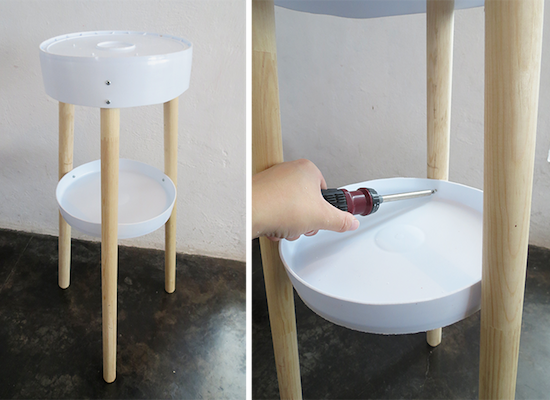 Diy table with a bucket 7 creative diy ways to reuse a 5 for Creative ways to make a table