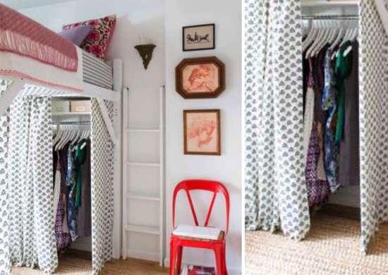 Loft Bed Storage Idea
