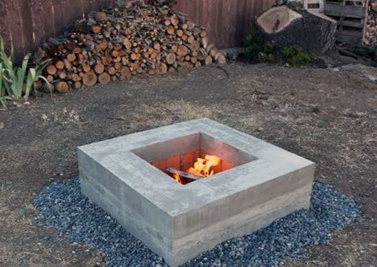 Diy concrete fire pit modern furniture you can make with for Materials needed to build a fire pit