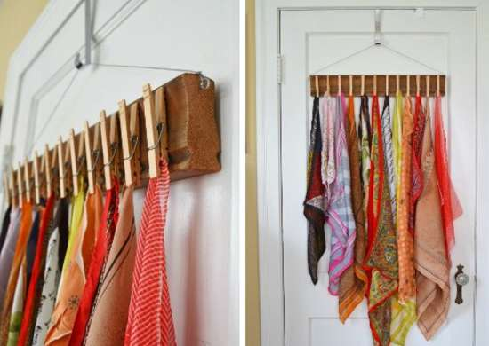 Scarf Storage Ideas