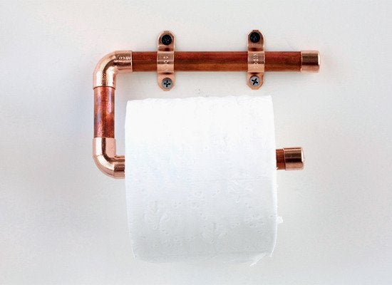 Copper Pipe Toilet Paper Holder 7 Things You Can Make