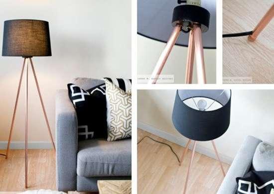 Copper Pipe Floor Lamp