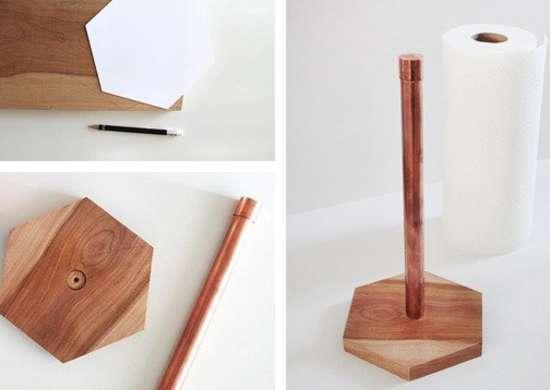 DIY Copper Pipe Paper Towel Holder