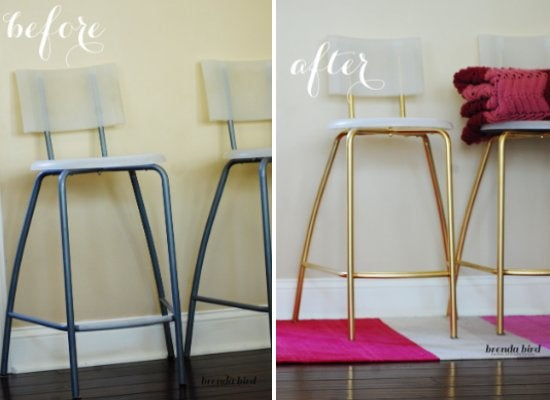 Diy Bar Stool Makeover One Trademark Of Ikea Furniture