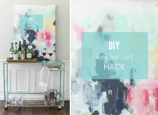 Diy Home Bar Painting Ikea Furniture 10 Diy Ideas Bob Vila