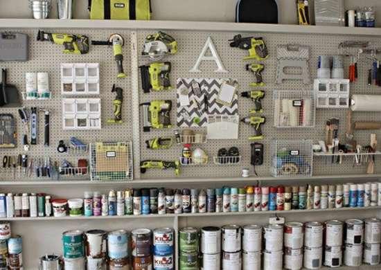 Garage Pegboard Storage
