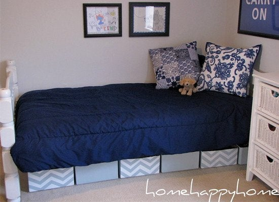 Underbed storage ideas 8 clever solutions to buy or diy - Dorm underbed storage ideas ...