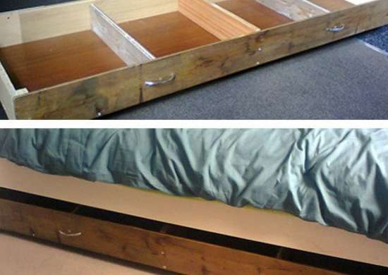 Underbed Storage Unit With Dividers
