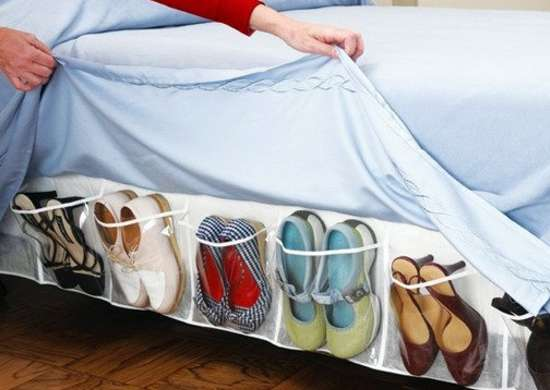 Shoe Storage Bed Skirt