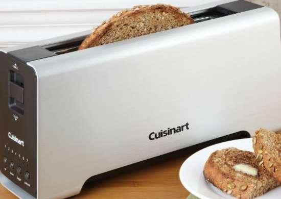 Cuisinart 2 Slice Aluminum Long Slot Toaster Compact