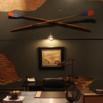 Hanging Oars on Wall