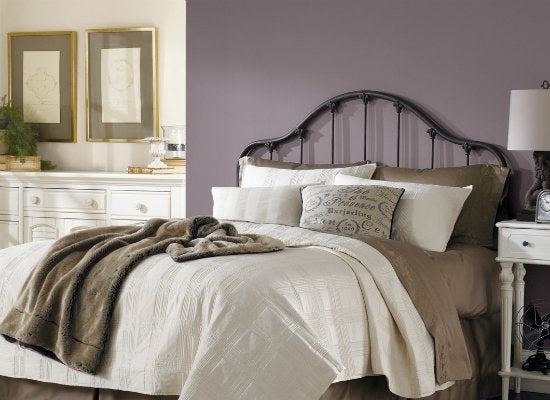 Purple Bedroom Ideas With Various Shades You Can Choose: Paint Colors For Dark Rooms