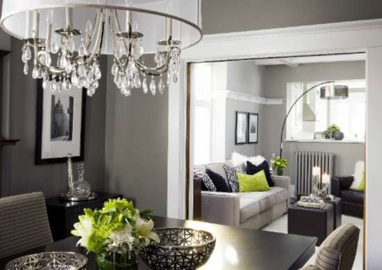 grey dining room - paint colors for dark rooms - 9 perfect picks