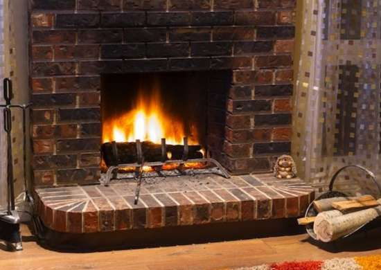 While wood-burning fireplaces mean warmth and coziness