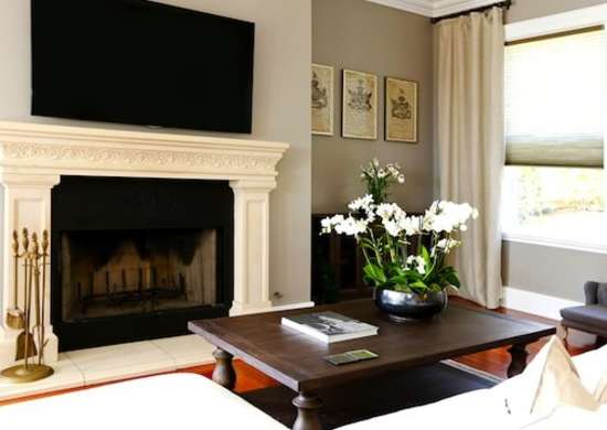TV Above Fireplace Fireplace Ideas Mistakes Not To Make - Tv above fireplace pictures ideas