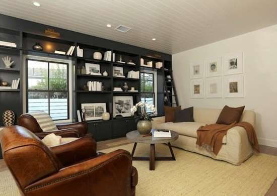 black accent wall in living room black accent wall how to brighten a room 10 24936