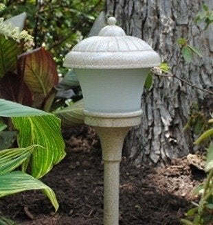 Malibu fluted glass walk light outdoor lighting