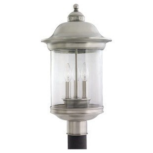 Seagulllighting hermitage collection post light outdoor lighting