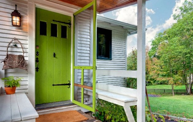 Green Front Door Front Door Paint Colors 9 Bright