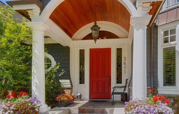 A red front door tells the world you love strong colors but still appreciate classic design. Red doors add a wonderful splash of color on white putty ... & Front Door Paint Colors - 9 Bright Bold Options - Bob Vila
