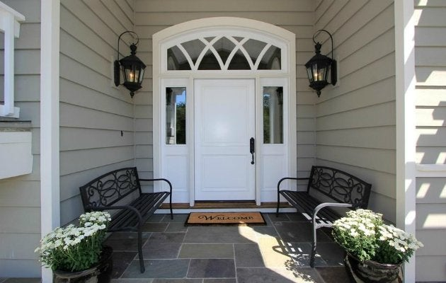 Unlike Bright Colors That May Draw Attention To The Door Itself Crisp White Front Doors Even Playing Field A Bit At An Entrance