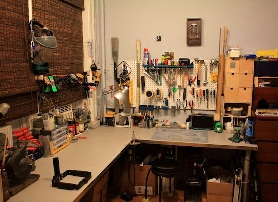 Workshop ideas where to set up yours bob vila for Geek living room ideas