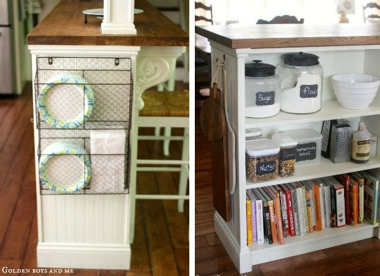 Diy Kitchen Island Ikea diy kitchen island - billy bookcase hack - 8 customizations for