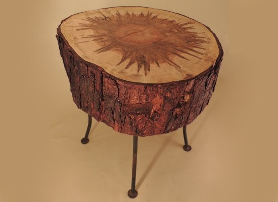 Tree stump ideas diy nightstand 8 options bob vila for Tree trunk slice ideas