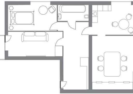 Old House Open Floor Plan