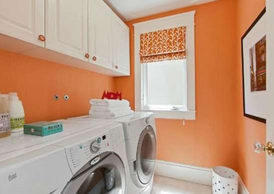 Laundry room colors color trends 2015 7 popular hues for Painting ideas for small laundry room