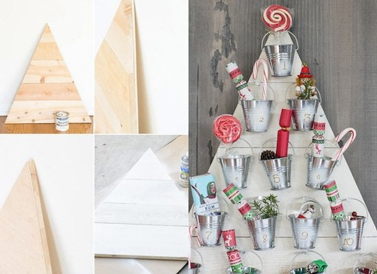 diy advent calendar - Wooden Christmas Crafts