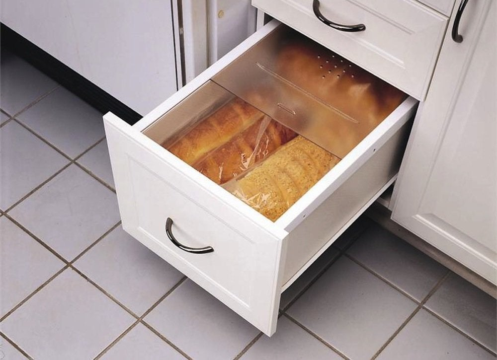 Bread storage kitchen storage solutions 7 easy for Kitchen cabinets and drawers