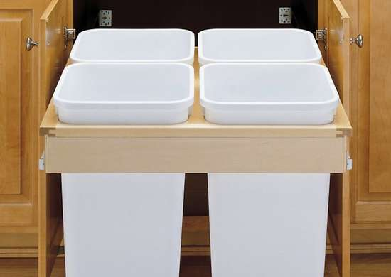 Trash Can Cabinet - Kitchen Storage Solutions - 7 Easy Upgrades ...