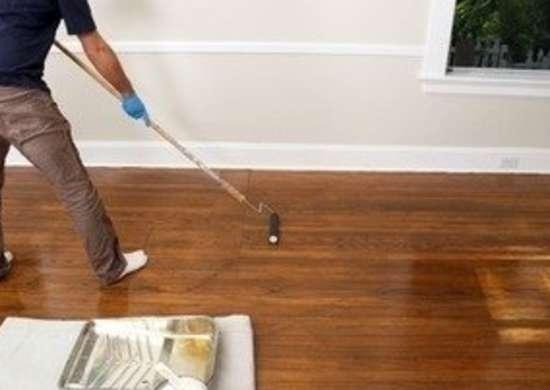 Jprovey floor refinishing applying polyurethane