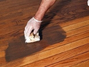 Jprovey refinishing wood floors applying stain