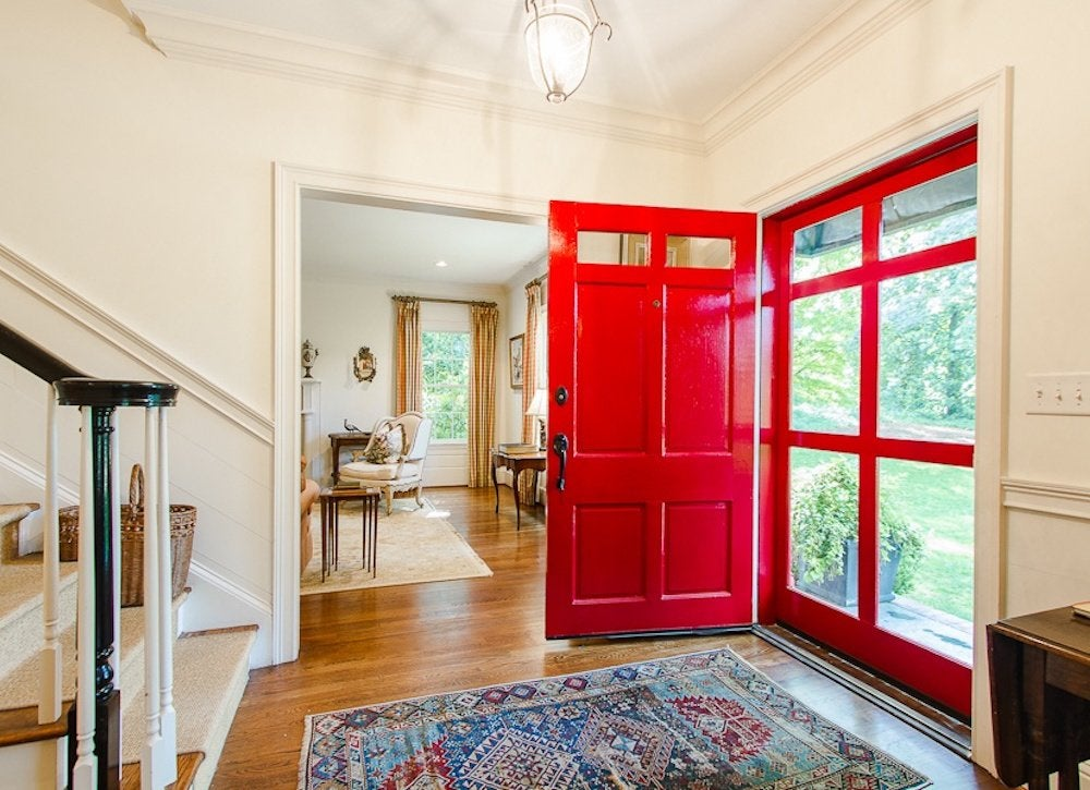 Paint front door red