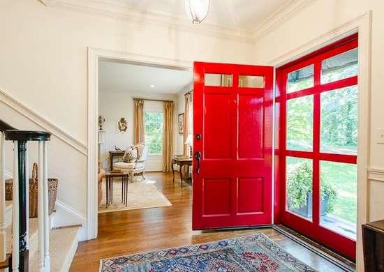 Paint front door red