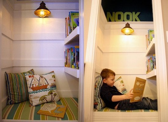 Whatu0027s One Of The Coolest Things You Can Make From A Spare Closet? A  Reading Nook, Of Course. Take A Gander At This Undeniably Charming Nook  From Thrifty ...