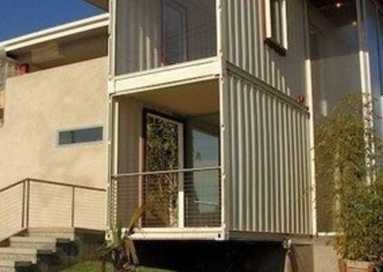 Shipping Container House Exterior