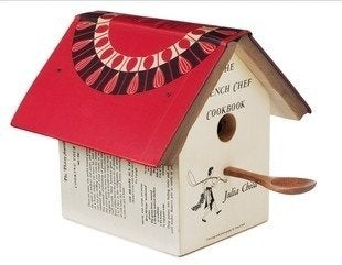 Uncommongoods julia child cookbook birdhouse
