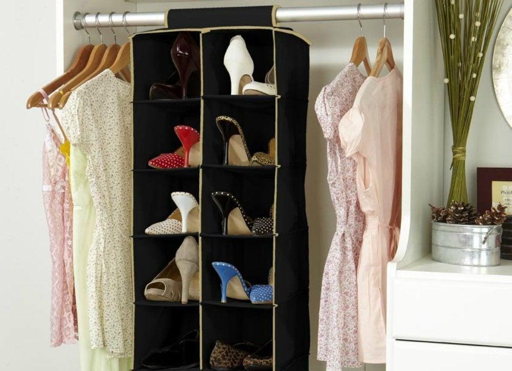 Hanging Shoe Organizer Closet Organization Ideas Under