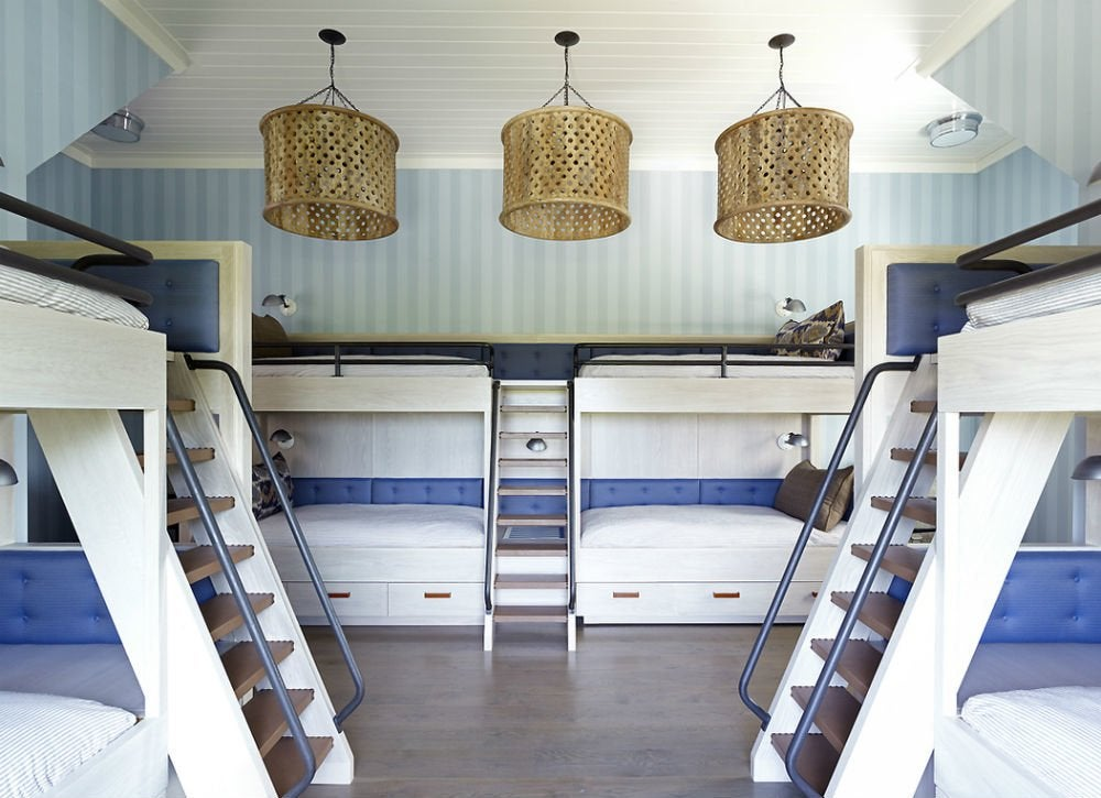 Modern bunk beds shared bedroom ideas bob vila - Bunk bed decorating ideas ...