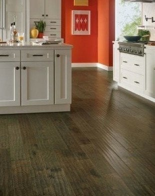 Armstrong hickory mountain smoke hardwood plank kitchen flooring
