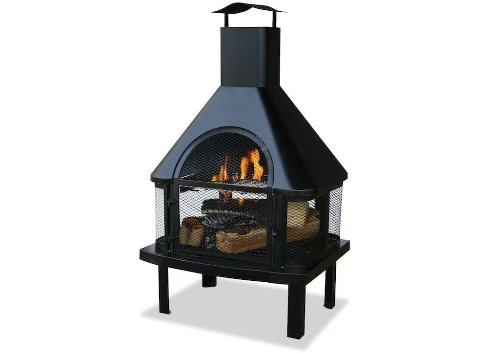 Uniflame Black Firehouse Chiminea - The Best Fire Pits for ... on Backyard Chiminea Ideas id=51507