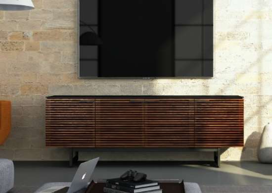 Home Theater Console in Chocolate Stained Walnut Finish